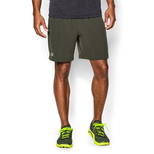 Mens Under Armour Launch 2-in-1 Shorts - Rifle Green/Rough L
