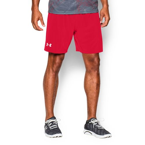 Mens Under Armour Launch 2-in-1 Shorts - Red M