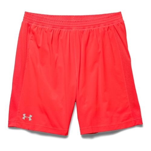 Mens Under Armour Launch 2-in-1 Shorts - Bolt Orange/Graphite S
