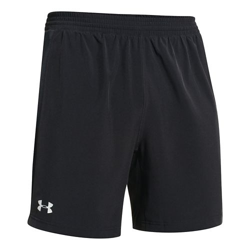 Mens Under Armour Launch 2-in-1 Shorts - Black XL