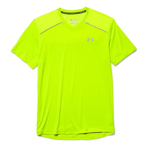 Mens Under Armour HeatGear Armourvent Launch T Short Sleeve Technical Tops - Neon Yellow L ...
