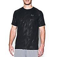 Mens Under Armour Tech Novelty Short Sleeve (Rattle print) Technical Tops