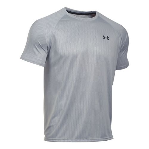 Mens Under Armour Tech Novelty Short Sleeve (rattle print) Technical Tops - Aluminum S