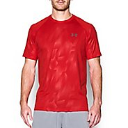 Mens Under Armour Tech Novelty Short Sleeve (Rattle print) Technical Tops