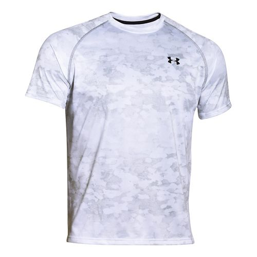 Mens Under Armour Tech Printed Short Sleeve (camo print) Technical Tops - Midnight Blue XL ...