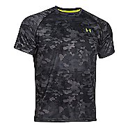Mens Under Armour Tech Printed Short Sleeve (camo print) Technical Tops