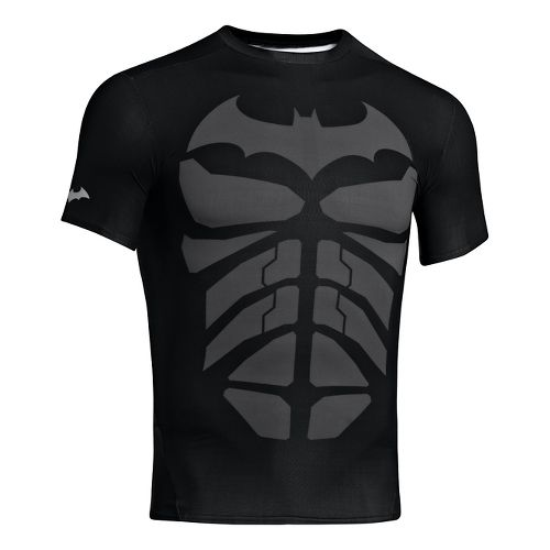 Mens Under Armour Alter Ego Compression Short Sleeve Technical Tops - Black/Steel S