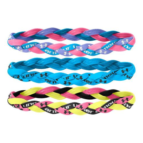 Womens Under Armour Braided Mini Headbands 3 pack Headwear - Blue