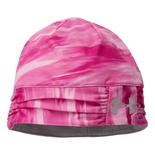 Womens Under Armour Cozy Coldgear Infrared Beanie Headwear - Magenta