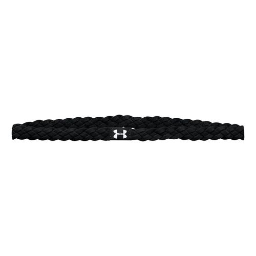 Womens Under Armour 4-Braid Mini Headband Headwear - Black