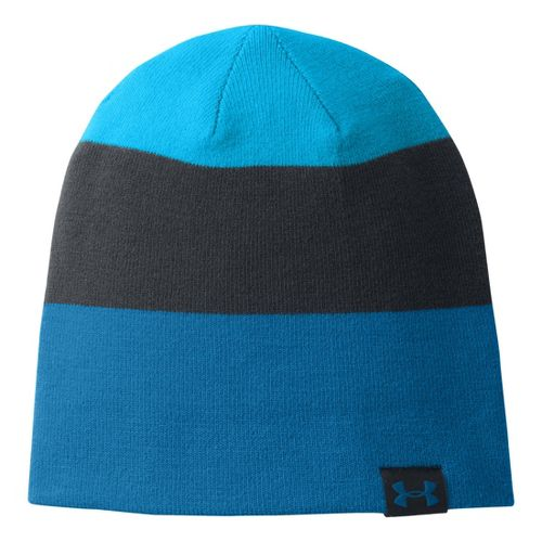 Mens Under Armour 4 in 1 Stripe Beanie Headwear - Blue