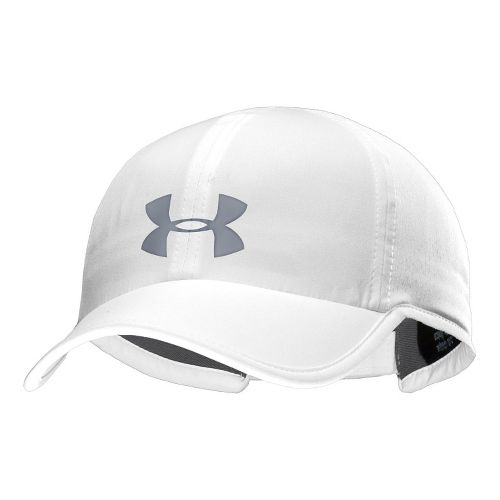 Mens Under Armour UA Armourvent Adjustable Cap Headwear - White/Steel