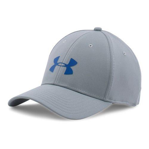 Mens Under Armour UA Headline Stretch Fit Cap Headwear - Steel M/L
