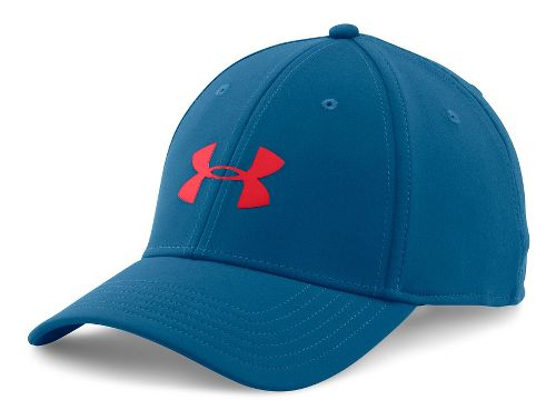 Mens Under Armour UA Headline Stretch Fit Cap Headwear - Heron M/L