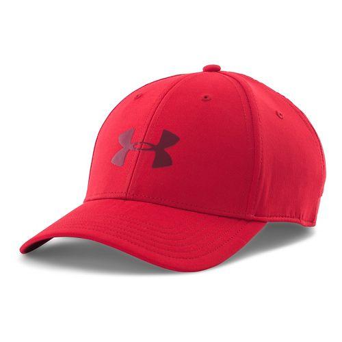 Mens Under Armour UA Headline Stretch Fit Cap Headwear - Red/Deep Red M/L
