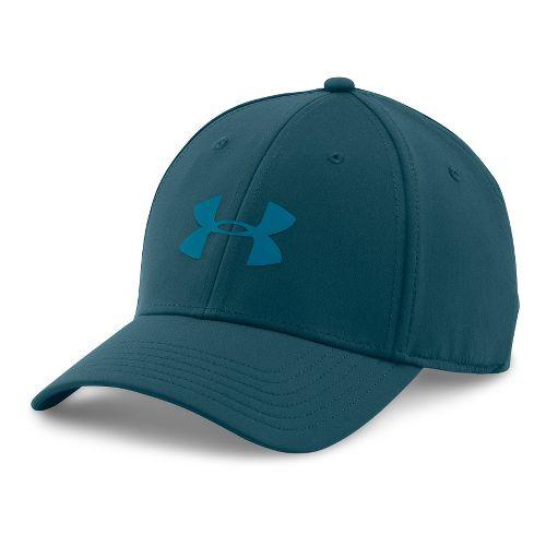 Mens Under Armour UA Headline Stretch Fit Cap Headwear - Nova Teal L/XL
