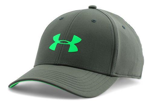 Mens Under Armour UA Headline Stretch Fit Cap Headwear - Combat Green L/XL