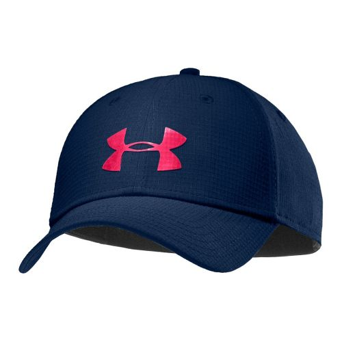 Mens Under Armour UA Headline Stretch Fit Cap Headwear - Academy/Neo Pulse M/L