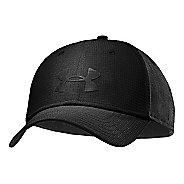 Mens Under Armour UA Headline Stretch Fit Cap Headwear - Black/Black L/XL