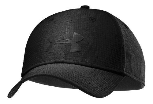 Mens Under Armour UA Headline Stretch Fit Cap Headwear - Black/Black M/L
