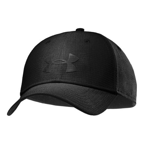 Mens Under Armour UA Headline Stretch Fit Cap Headwear - Black/Black M/L