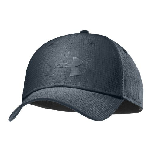 Mens Under Armour UA Headline Stretch Fit Cap Headwear - Charcoal/Charcoal M/L
