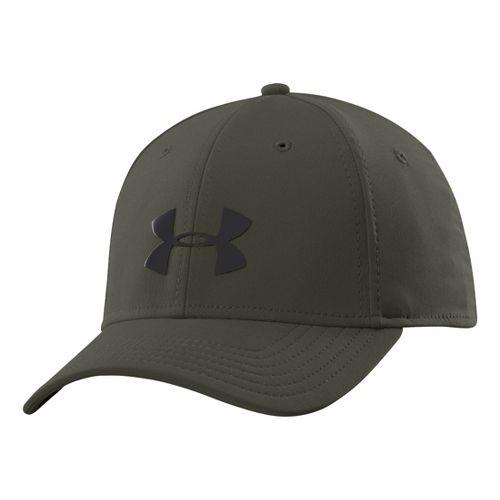 Mens Under Armour UA Headline Stretch Fit Cap Headwear - Rifle Green M/L