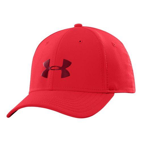 Mens Under Armour UA Headline Stretch Fit Cap Headwear - Risk Red M/L