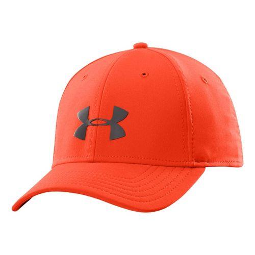 Mens Under Armour UA Headline Stretch Fit Cap Headwear - Volcano L/XL