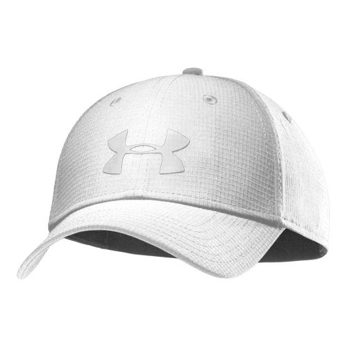 Mens Under Armour UA Headline Stretch Fit Cap Headwear - White/White M/L