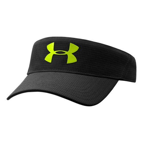 Mens Under Armour Headline Visor Headwear - Black/Hi-Viz Yellow