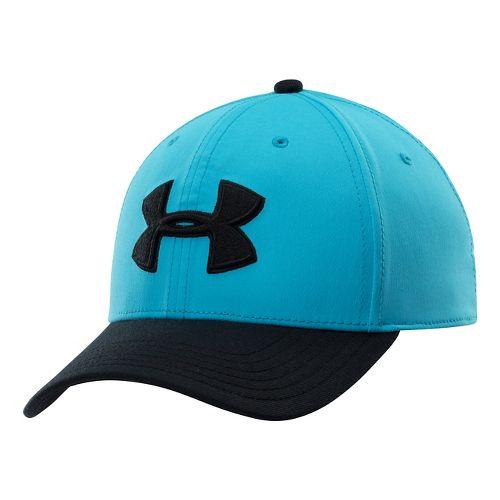Mens Under Armour UA Low Crown Stretch Fit Cap Headwear - Island Blues/Black XL/XXL
