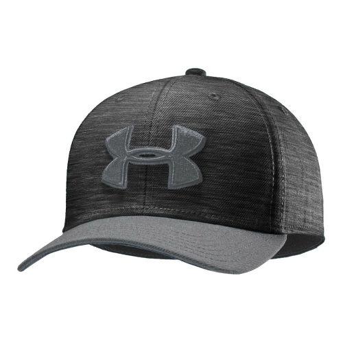 Mens Under Armour UA Low Crown Stretch Fit Cap Headwear - Asphalt Heather/Steel XL/XXL