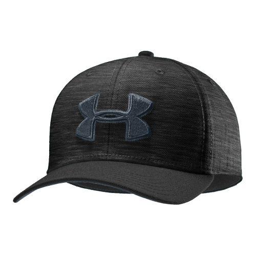 Mens Under Armour UA Low Crown Stretch Fit Cap Headwear - Black/Charcoal L/XL
