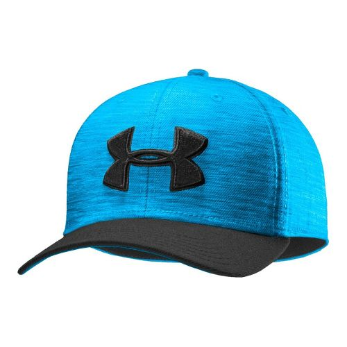 Mens Under Armour UA Low Crown Stretch Fit Cap Headwear - Electric Blue/Black M/L