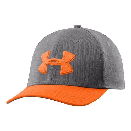 Mens Under Armour UA Low Crown Stretch Fit Cap Headwear - Graphite/Blizzard M/L