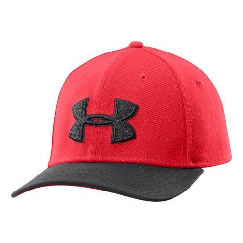 Mens Under Armour UA Low Crown Stretch Fit Cap Headwear - Risk Red L/XL