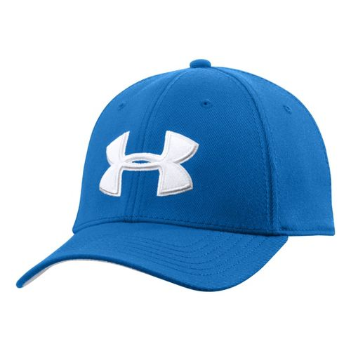 Mens Under Armour UA Low Crown Stretch Fit Cap Headwear - Superior Blue/White M/L