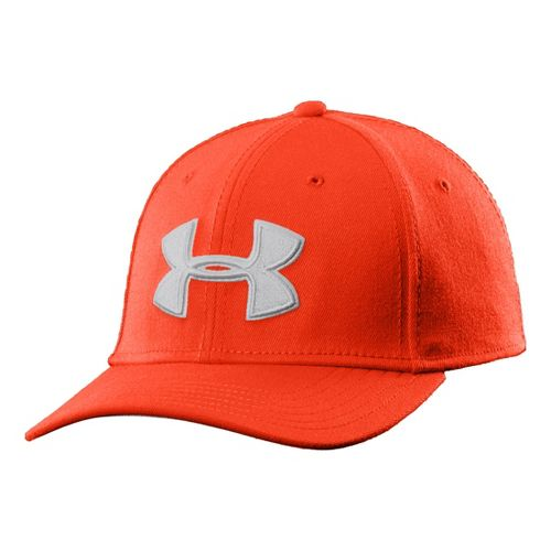 Mens Under Armour UA Low Crown Stretch Fit Cap Headwear - Volcano XL/XXL