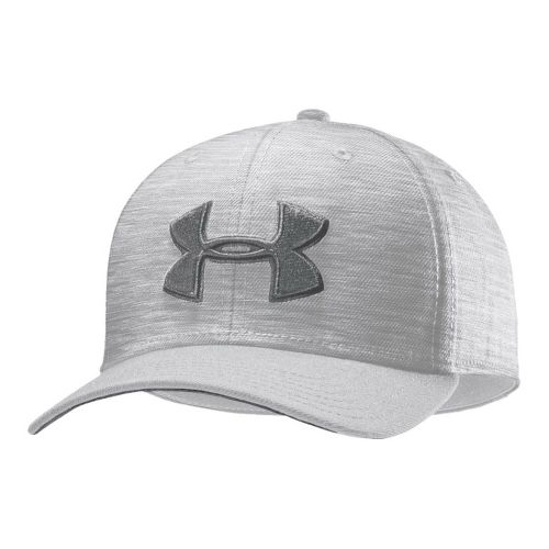 Mens Under Armour UA Low Crown Stretch Fit Cap Headwear - White/Steel XL/XXL