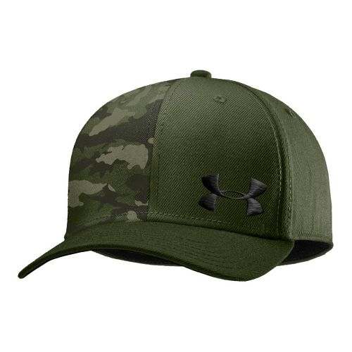 Mens Under Armour UA Low Crown Graphic Stretch Fit Cap Headwear - Rough/Canvas XL/XXL
