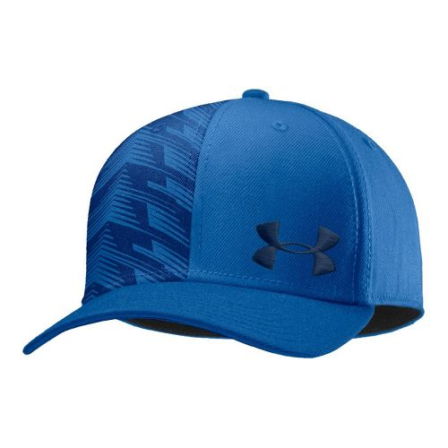 Mens Under Armour UA Low Crown Graphic Stretch Fit Cap Headwear - Superior Blue/Academy XL/XXL ...