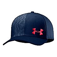 Mens Under Armour UA Low Crown Graphic Stretch Fit Cap Headwear