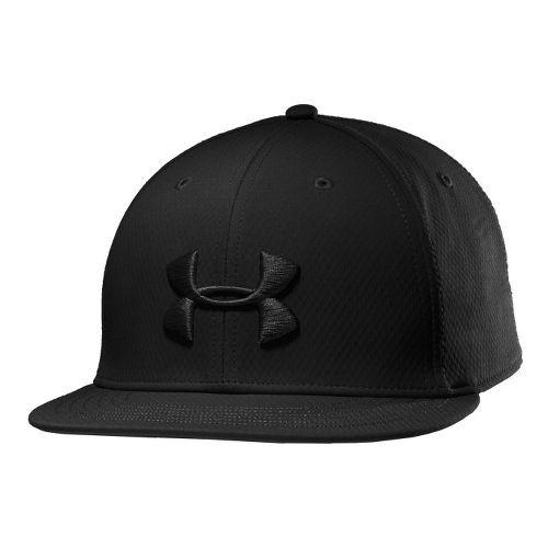 Mens Under Armour UA Elevate Stretch Fit Cap Headwear - Black M/L