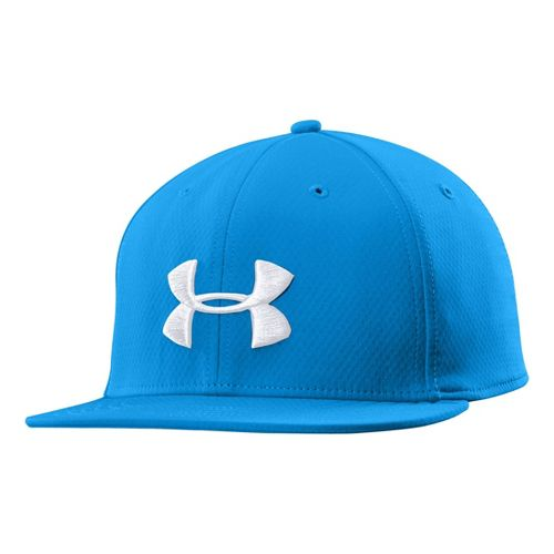 Mens Under Armour UA Elevate Stretch Fit Cap Headwear - Electric Blue L/XL