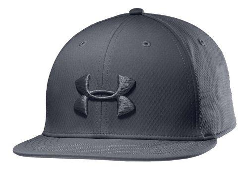 Mens Under Armour UA Elevate Stretch Fit Cap Headwear - Graphite L/XL