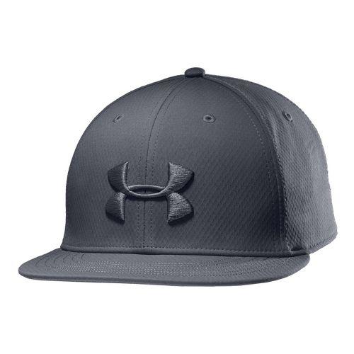 Mens Under Armour UA Elevate Stretch Fit Cap Headwear - Graphite M/L