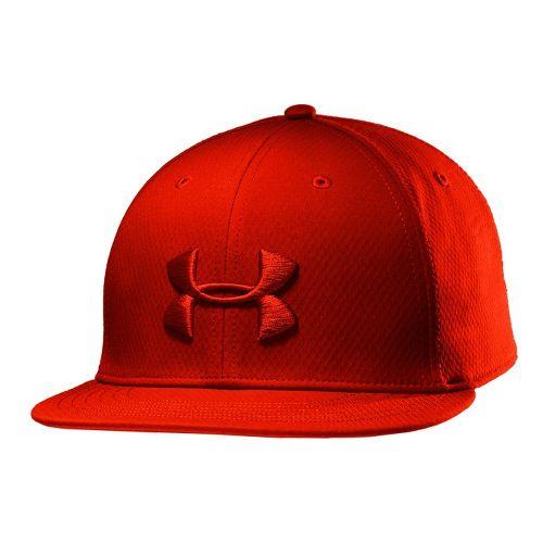 Mens Under Armour UA Elevate Stretch Fit Cap Headwear - Noise M/L