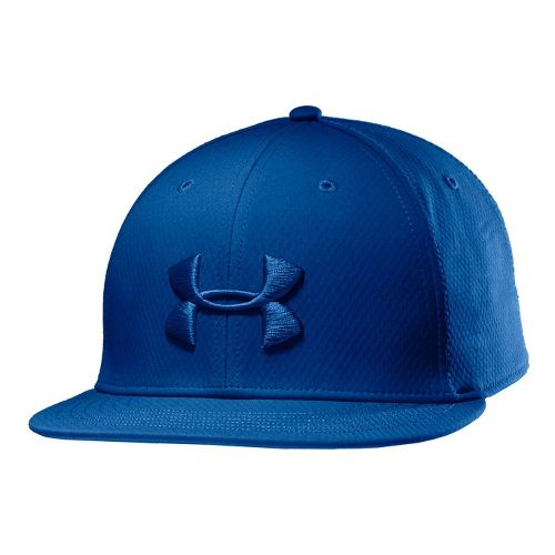 Mens Under Armour UA Elevate Stretch Fit Cap Headwear - Superior Blue M/L
