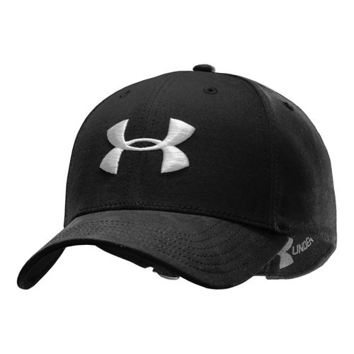Mens Under Armour UA Washed Adjustable Cap Headwear - Black/Black